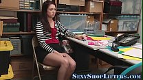 Shoplifter teen bent over Thumbnail