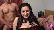 Sonia sex, ass-virgin, tries a double penetrati...