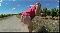 Flashing and nude on a country road Thumbnail