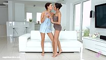 Lesbian scene with Kerry Cherry and Roxy Dee by...