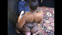 ebony mistress farts straight to man s face