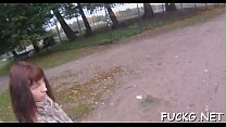 Teasing teen girl on a spy web camera thumb