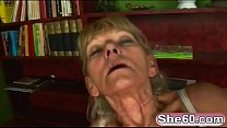 Blonde granny Inci gets fucked by her younger l... thumb