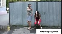 Two amateur girls from hotpissing.org peeing in...