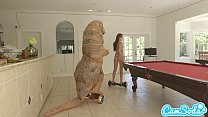 teen latina step sister chased by lesbian lovin...