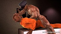 3D ebony prisoner gets fucked in the ass by a c... Thumbnail