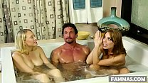 Busty stepsisters and their surprise client # B...