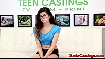 Download video bokep Petite spex teen bound and fucked at casting 3gp terbaru