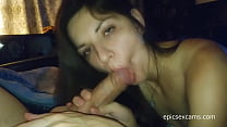 Sexy Amateur Babe Sucks And Enormous Cock On We...
