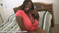 huge tit black bbw slut gets fucked by huge white cock