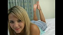 sexy foot show from blonde girl