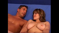 Chubby and busty woman fucked by man who cums i... thumb