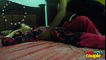indian couple sunny and sonia in bedroom hardco...