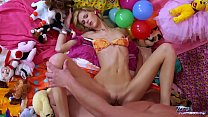 Teenyplayground Ultra skinny babe is hungry for...