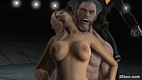 Wolverine fucking a bigtitted babe Thumbnail