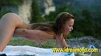 Jo masturbating on a cliff - download porn videos