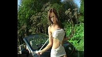 Exhibitionist babes outdoor striptease and nude... Thumbnail