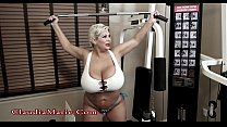 Claudia Marie Huge Tits Gym
