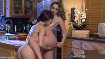 Jenna Sativa shows Kimmy Granger how to enjoy herself at a gay party.
