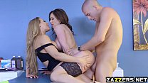 Xanders Corvus thick cock got stuck in Nicole A...