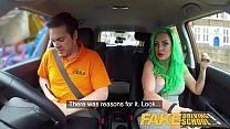 Fake Driving School Busty learner is wet and ho...