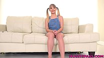 Tiny 18 year old Anna Mae gets wrecked in first... Thumbnail