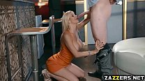 Alexis Fawx on her knees sucking a fresh cock