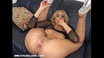 dildo brutal a with ass her stretches wells Kelly
