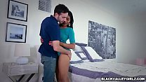 Black babe Jenna Foxx bangs with handsome neighbor Thumbnail