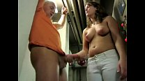 german girl jerks her boss
