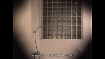 Japanese girl stripped and takes a shower