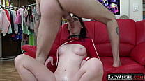 Adorable Brunette Teen Athena Rayne Gets Finger...