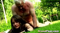 Having sex with older guys make this young brun...