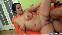 up bbw and bangs her fat cunt