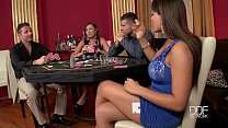 Two Incredible babes fucked hard in the casino thumb