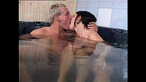 Brunette whore banged at the sauna