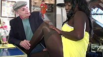 Papy is banging a black beauty