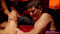 Amateur couple try swinging at this awesome org...