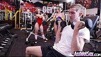 Big Ass Wet Oiled Girl (Anissa Kate & Nekane Sweet) Get Nailed Deep In Her Behind clip-06
