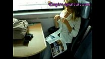 Hot German Cougar With Big Tits Gets Fucked On The Train & Her Tits Pasted In Cum