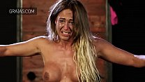 Blonde bodybuilder girl cries from hard whipping Thumbnail