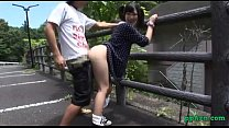 Asian Girl Fucked While Bending To The Fence Ou...