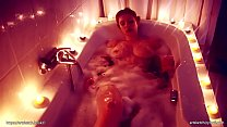 Alixia busch video take a sexy hot bath, red hair and sexy body, with big boobs.