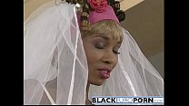 Ebony bride gets pounded by best man white dong