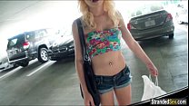 Teen Stacie Andrews gets screwed in a parking l...