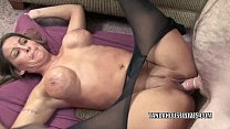 Petite housewife Leeanna Heart is taking on a s...