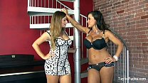 Taylor Vixen Lesbians By The Stairs Thumbnail
