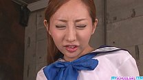 Vibrator action and mouthful of cum Aihara Erena