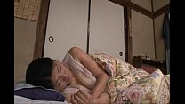 Japanese haired pussy in the bed