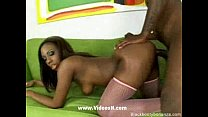 Tight ass ebony takes it from behind